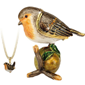 Robin Trinket Box - Secrets from Hidden Treasures from thetraditionalgiftshop.com