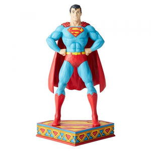 Superman Silver Age Figurine - DC Comics by Jim Shore from thetraditionalgiftshop.com