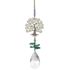 Tree of Life Crystal Fantasies Suncatcher - Wild Things Crystal from thetraditionalgiftshop.com