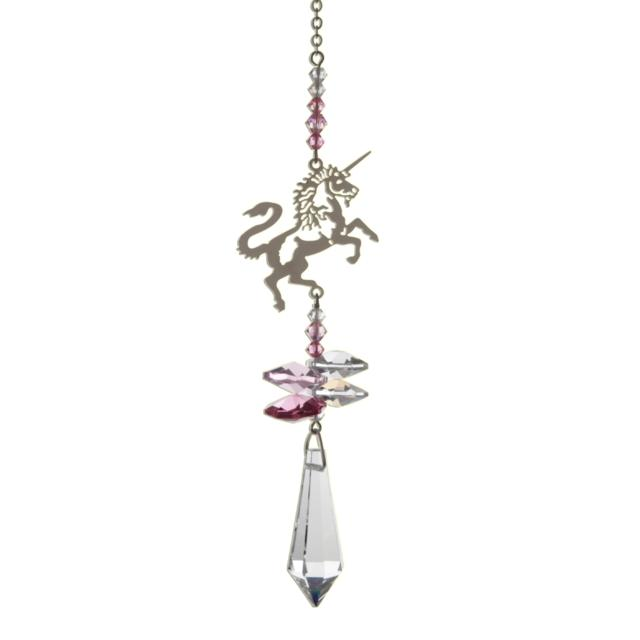 Unicorn (Rose) Crystal Fantasies Suncatcher