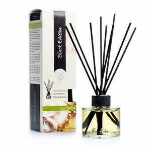 White Flowers (Flor Blanca) Mikado Black Edition Reed Diffuser - Mikado Black Edition Reed Diffusers from thetraditionalgiftshop.com
