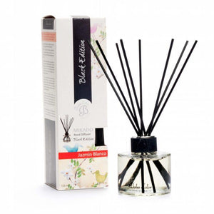 White Jasmine (Jazmin Blanco) Mikado Black Edition Reed Diffuser - Mikado Black Edition Reed Diffusers from thetraditionalgiftshop.com