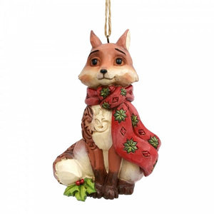 Winter Wonderland Fox (Hanging Ornament) - Heartwood Creek by Jim Shore from thetraditionalgiftshop.com