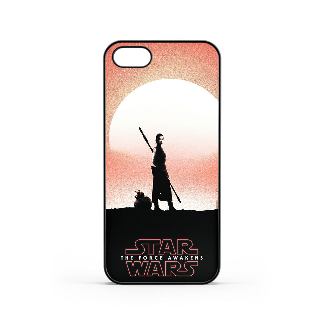 Star Wars The Force Awakens Poster Rey iPhone 5 / 5s / SE Case