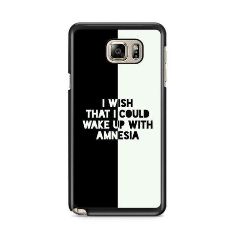 5 Seconds of Summer 5SOS Amnesia Lyrics Samsung Galaxy Note 5 Case