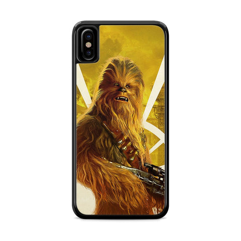 Star Wars Solo Chewbacca Poster iPhone X Case