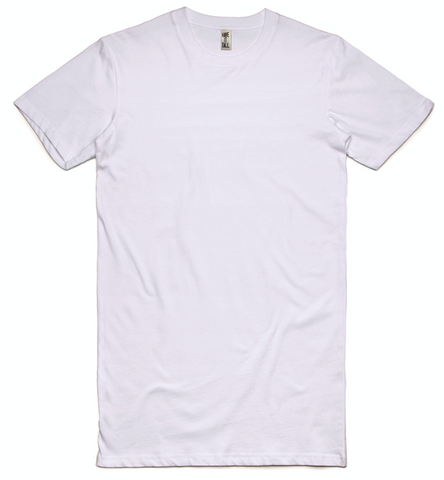 Extra Long Mid Weight Cotton T Shirt