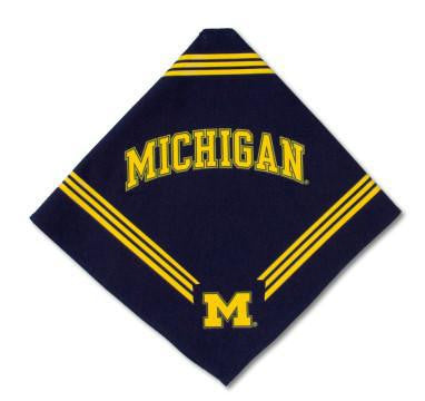 Michigan Wolverines Dog Bandana-Deluxe