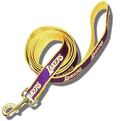 Los Angeles Lakers Dog Leash-Ribbon