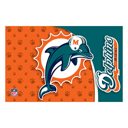 Miami Dolphins Dog Bowl Mat
