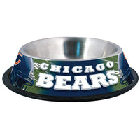 Chicago Bears Dog Bowl-Stainless Steel