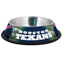 Houston Texans Dog Bowl-Stainless Steel