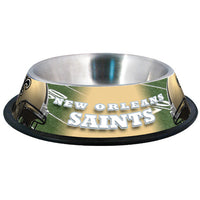 New Orleans Saints Dog Bowl-Stainless Steel