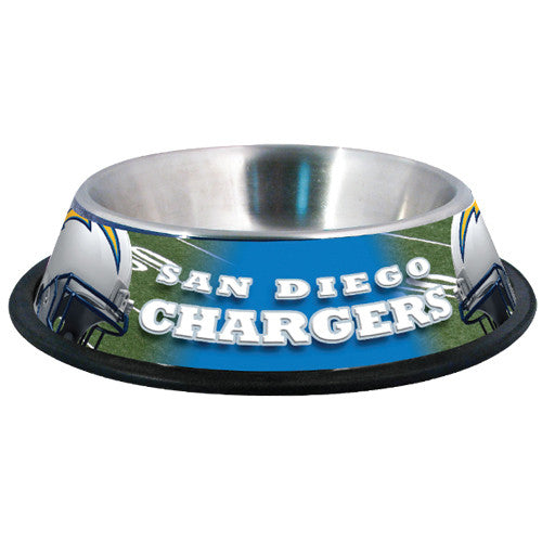 San Diego Chargers Vintage Dog Bowl-Stainless Steel