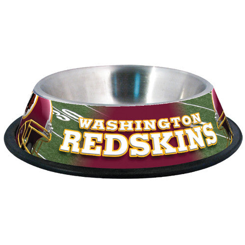 Washington Redskins Dog Bowl-Stainless Steel