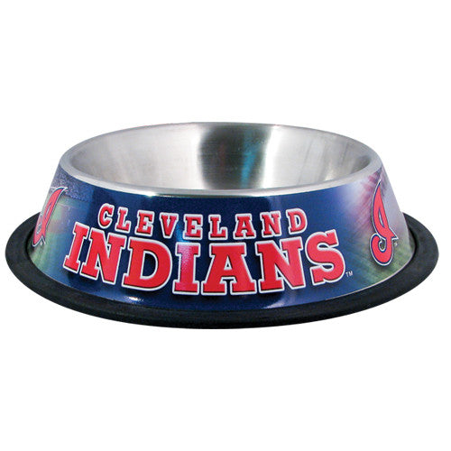 Cleveland Indians Dog Bowl-Stainless Steel