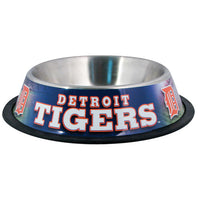 Detroit Tigers Dog Bowl-Stainless Steel