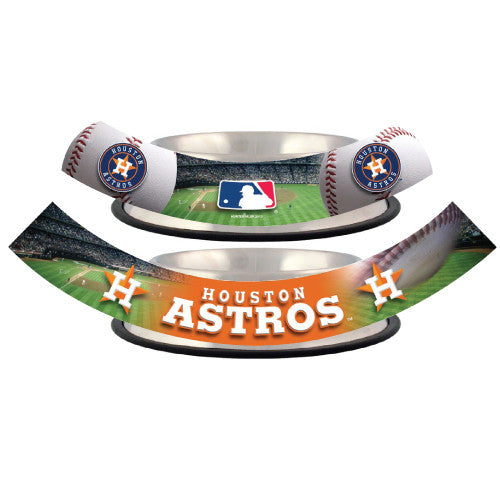 Houston Astros Dog Bowl-Stainless Steel