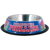 Philadelphia Phillies Dog Bowl-Stainless Steel