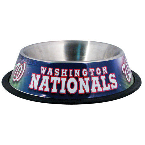Washington Nationals Dog Bowl-Stainless Steel