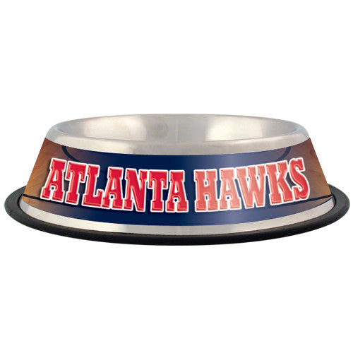 Atlanta Hawks Dog Bowl-Stainless Steel