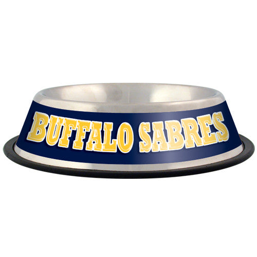 Buffalo Sabres Dog Bowl-Stainless Steel