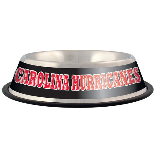 Carolina Hurricanes Dog Bowl-Stainless Steel