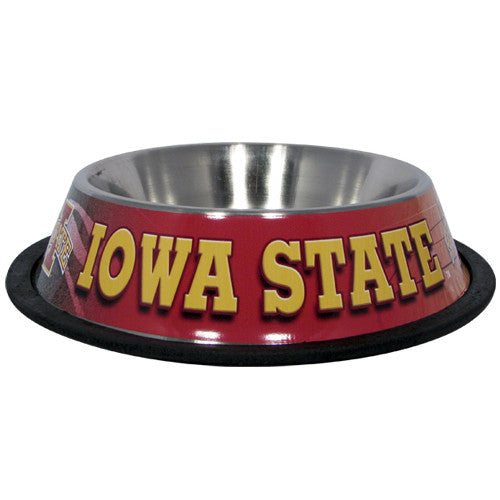 Iowa State Cyclones Dog Bowl - Stainless Steel