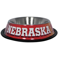 Nebraska Cornhuskers Dog Bowl - Stainless Steel