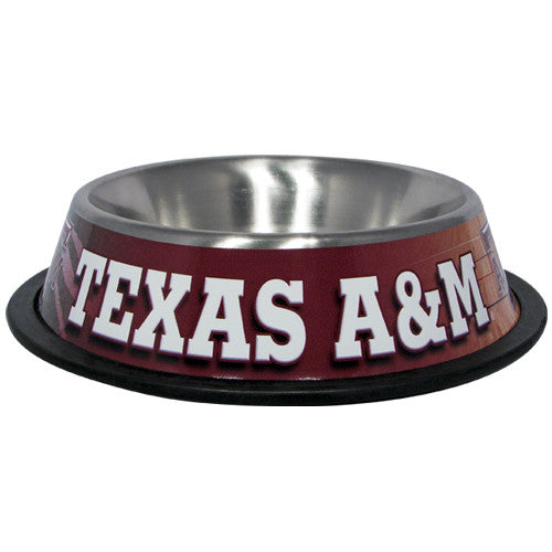 Texas A&M Aggies Dog Bowl - Stainless Steel