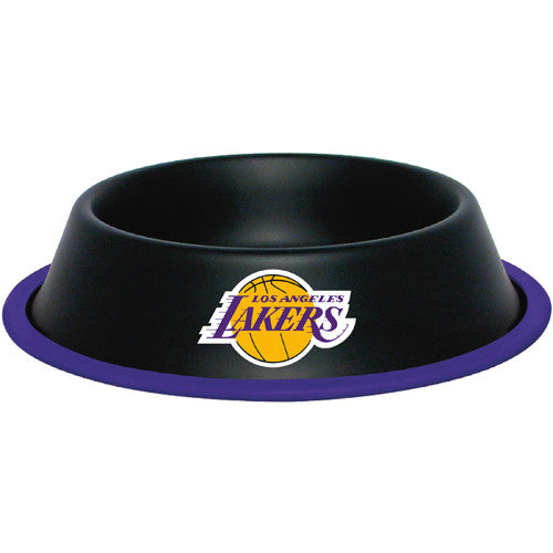 Los Angeles Lakers Dog Bowl-Stainless Steel