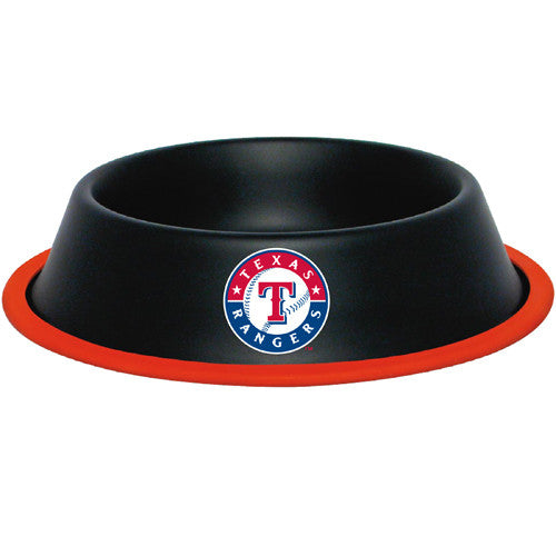 Texas Rangers Dog Bowl-Stainless Steel