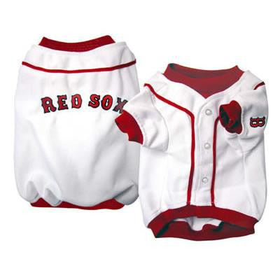 Boston Red Sox Dog Jersey - Deluxe White
