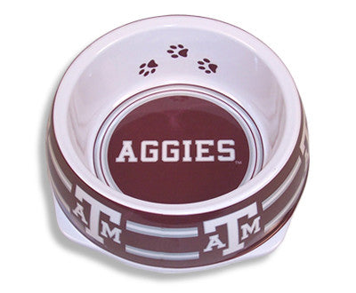 Texas A&M Aggies Dog Bowl-Plastic