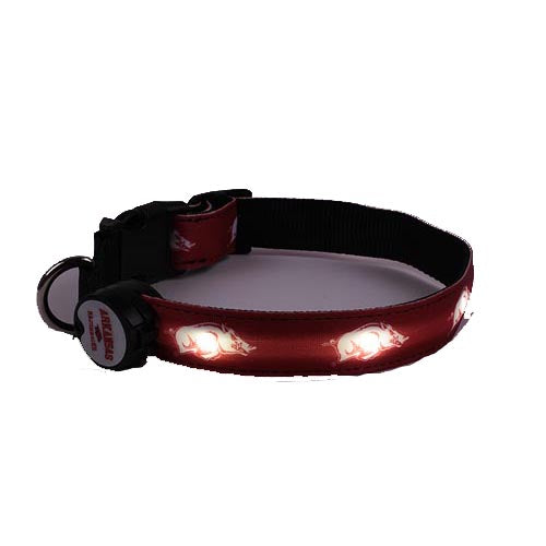 Arkansas Razorbacks Dog E Glow Collar