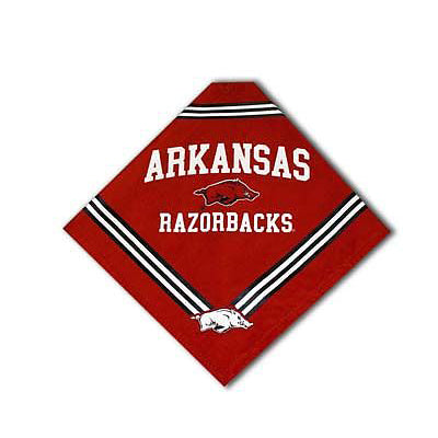 Arkansas Razorbacks Dog Bandana-Deluxe