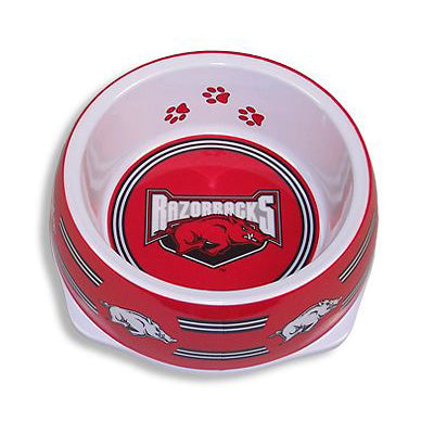 Arkansas Razorbacks Dog Bowl-Plastic