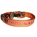 Cincinnati Bengals Leather Dog Collar