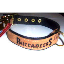 Tampa Bay Buccaneers Leather Dog Collar