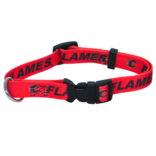 Calgary Flames Dog Collar