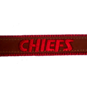 Kansas City Chiefs Leather Dog Leash
