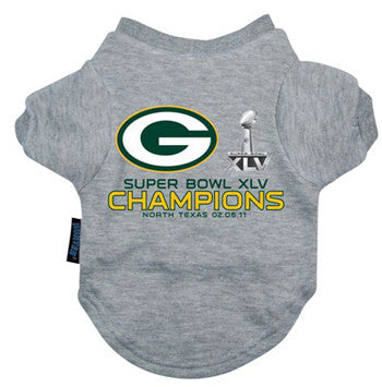 Green Bay Packers Vintage Champions Dog Tee Shirt
