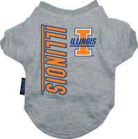 Illinois Fighting Illini Dog Tee Shirt