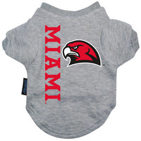 Miami, Ohio Redhawks Dog Tee Shirt