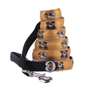 Missouri Tigers Dog Leash-Dog E Glow