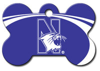 Northwestern Wildcats Dog Engravable ID Tag