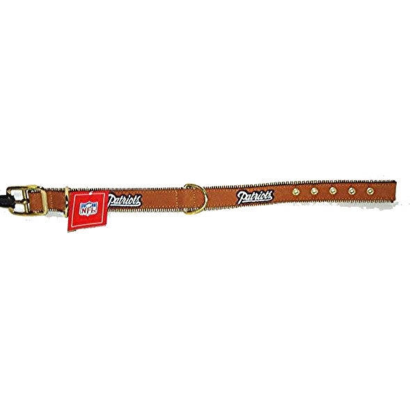 New England Patriots Leather Dog Collars Here! Get your NFL Pet ... a600e5fc8