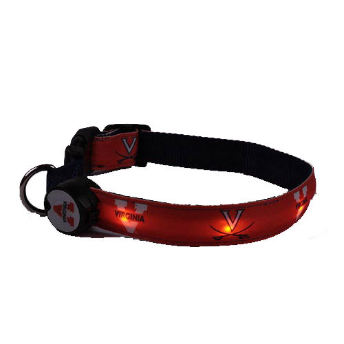Virginia Cavaliers Dog E Glow Collar