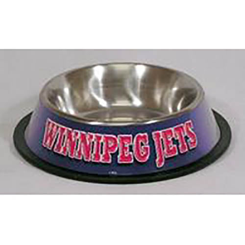 Winnipeg Jets Dog Bowl-Stainless Steel