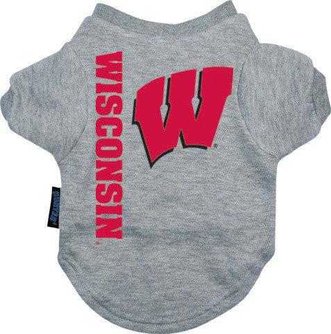 Wisconsin Badgers Dog Tee Shirt